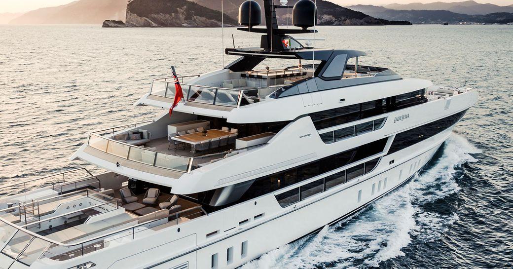 lady lena luxury yacht underway