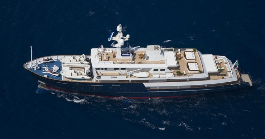 expedition yacht TITAN available for monaco grand prix charter