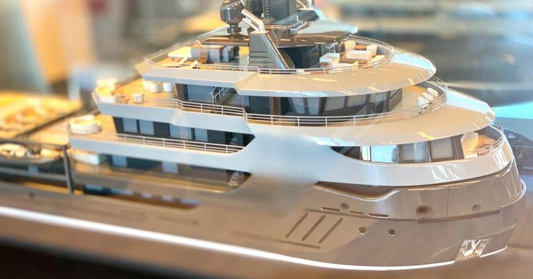 Model of RAGNAR superyacht