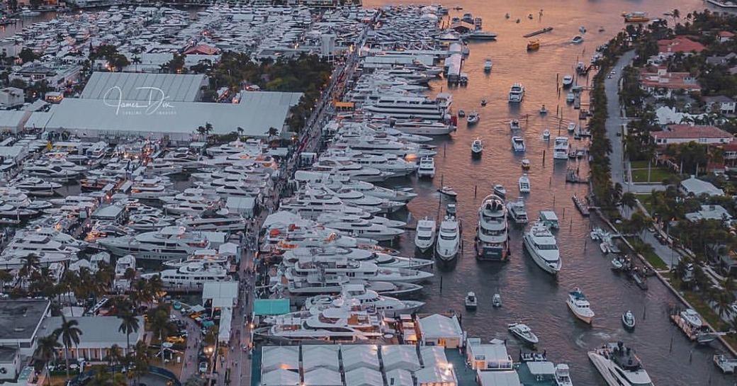 Fort Lauderdale boat show aerial shot