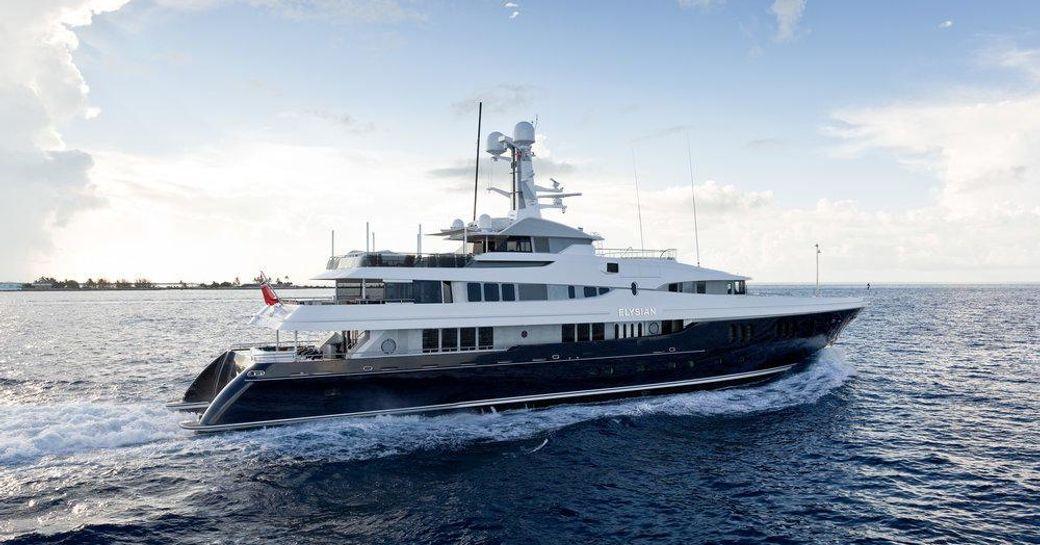 Superyacht ELYSIAN underway