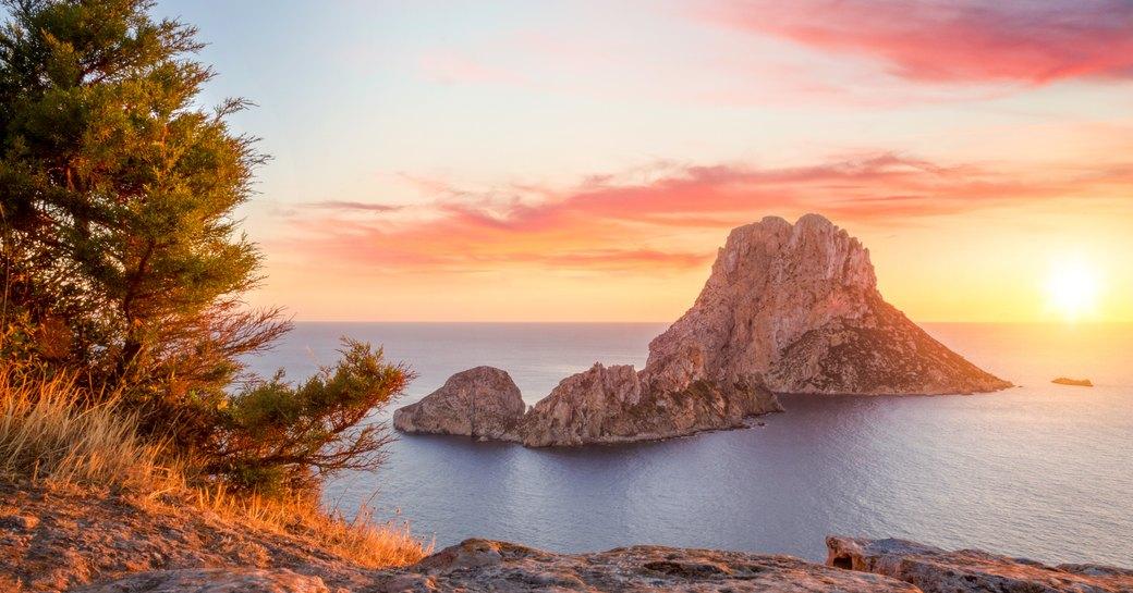 Rocky island of Es Vedra in Ibiza