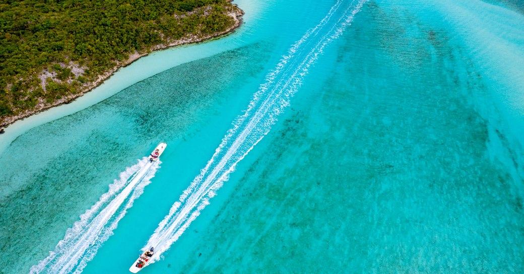 yachts cruising in the exumas
