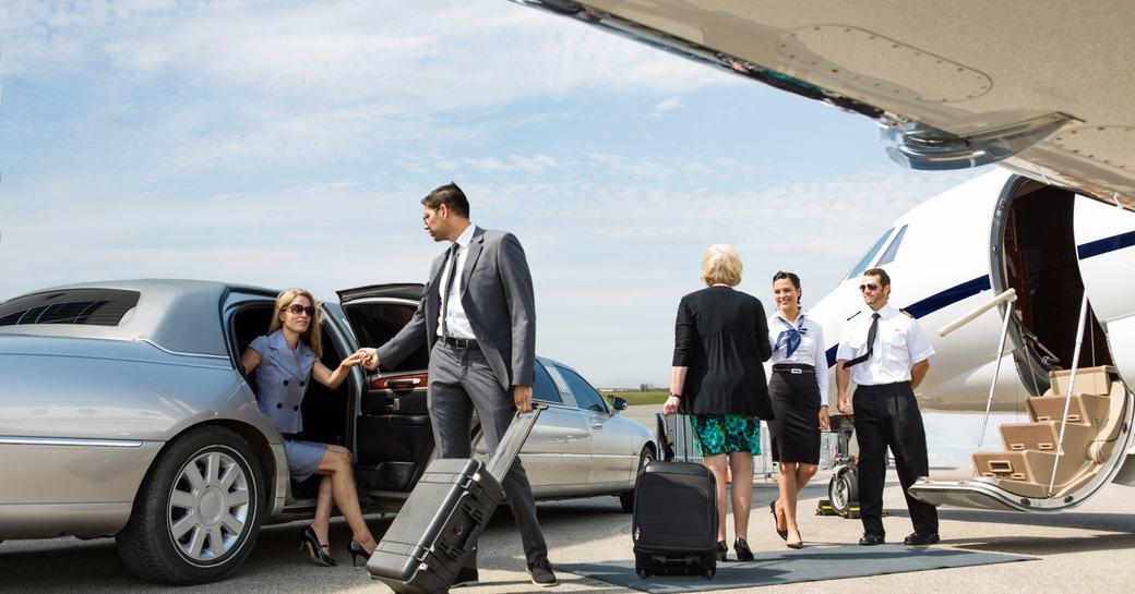 private jet arrival