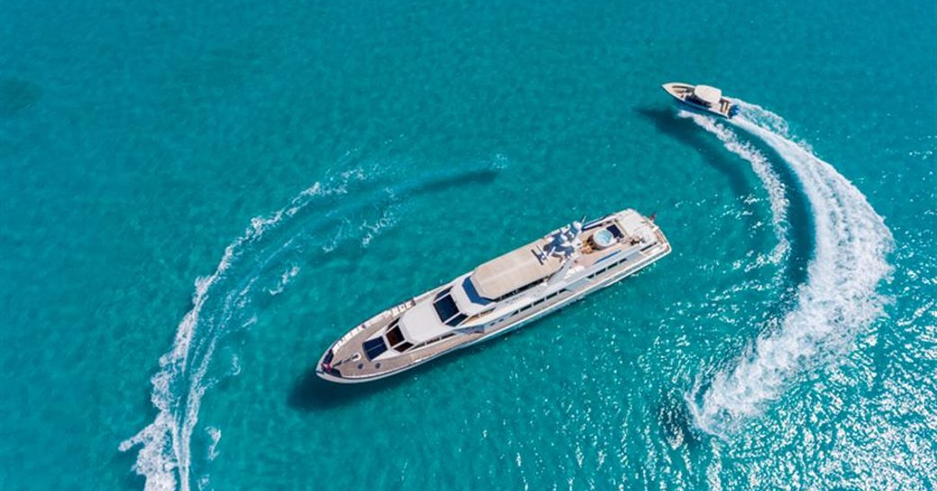 Superyacht 'No Buoys' and her additional tenders