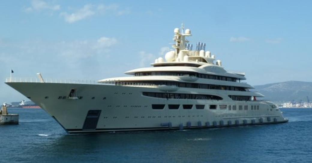 superyacht DILBAR in the Mediterranean
