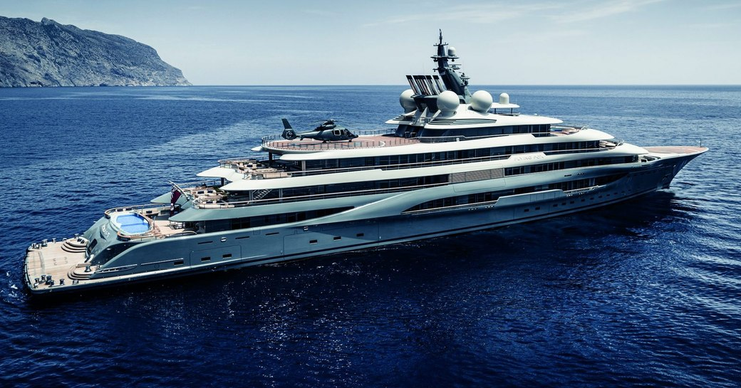 superyacht flying fox the world's largest yacht for charter cruising the waters of the caribbean