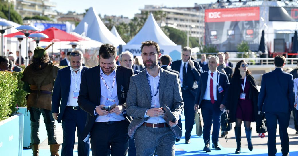 participants of MIPIM at the venue in Cannes