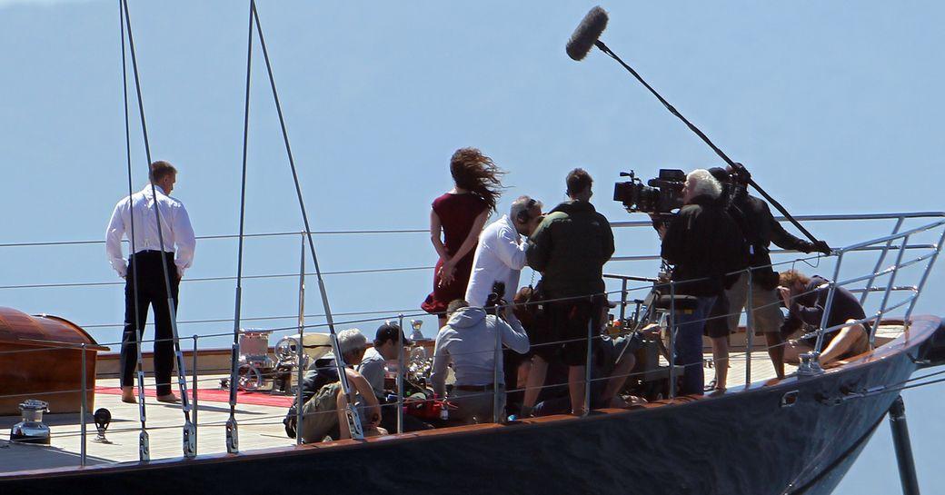 Shooting scenes on REGINA's deck for the James Bond film 'Skyfall'