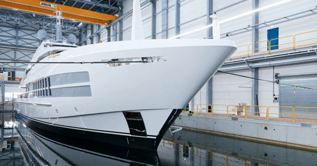 luxury yacht project castor on the water