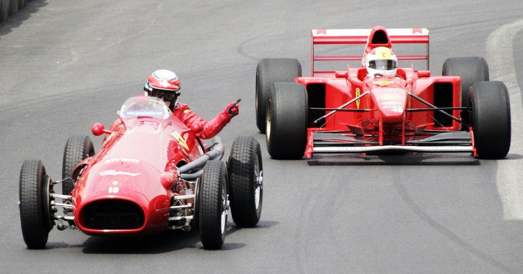 Vintage cars race at the Monaco Historic Grand Prix