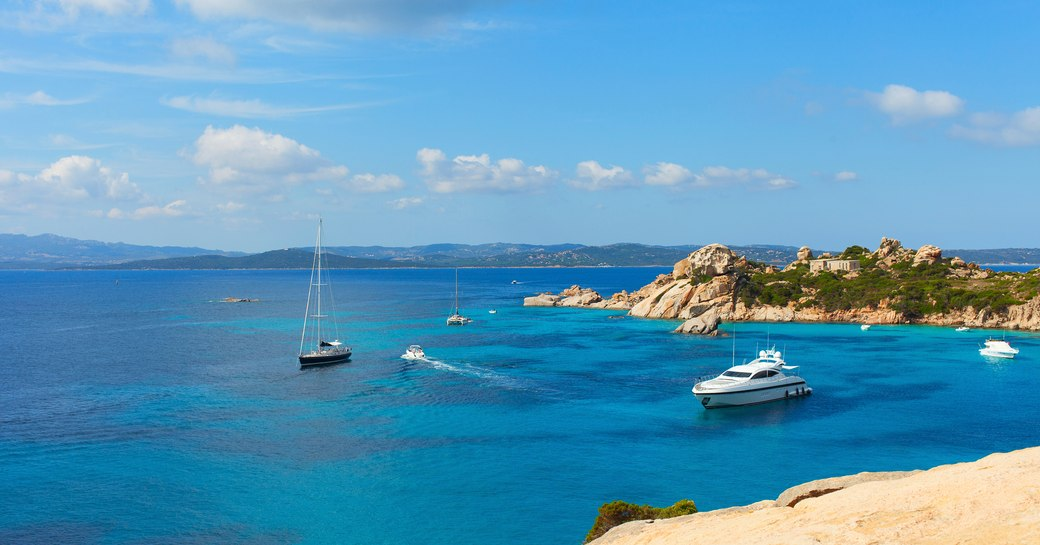 yachts on the water in sardinia