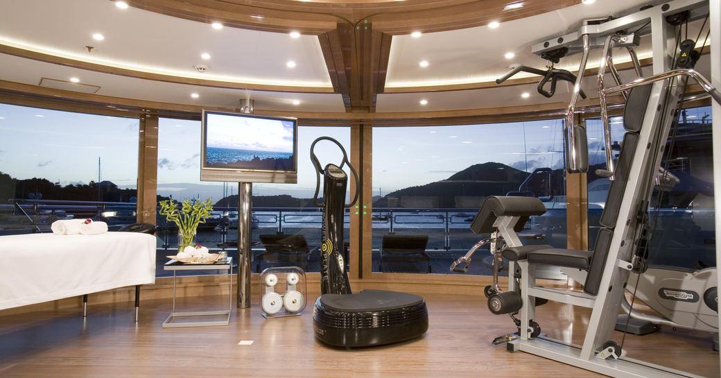 Gym onboard MY Alfa Nero