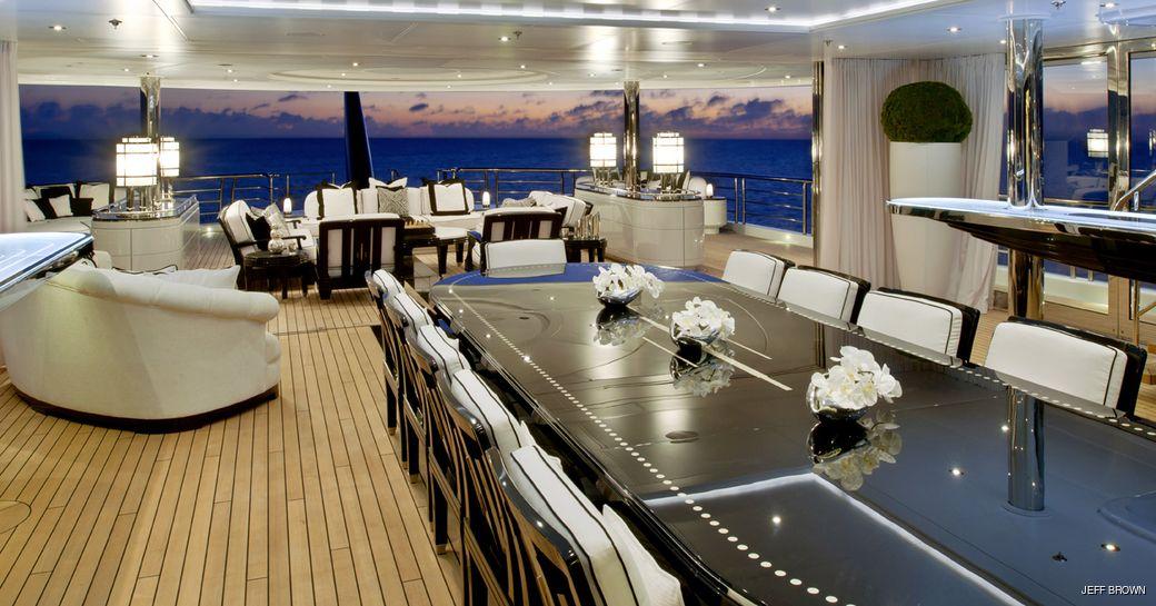 Winter garden on luxury yacht Phoenix 2