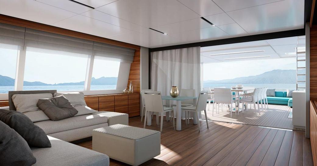 main salon on luxury yacht penelope