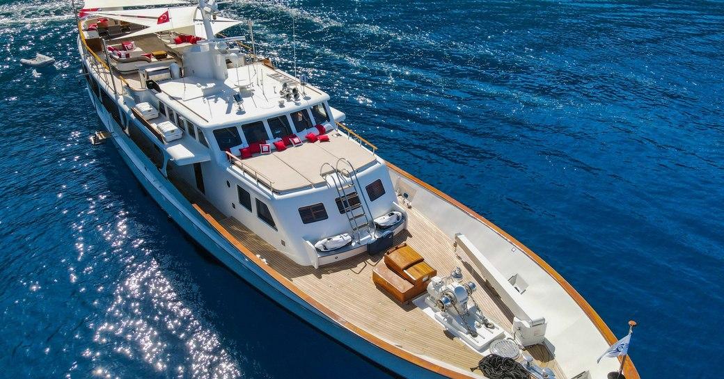 exterior decks onboard feadship yacht alhambra
