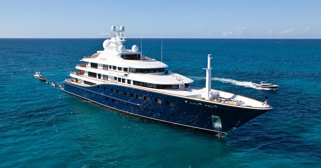 AQUILA yacht as seen from profile