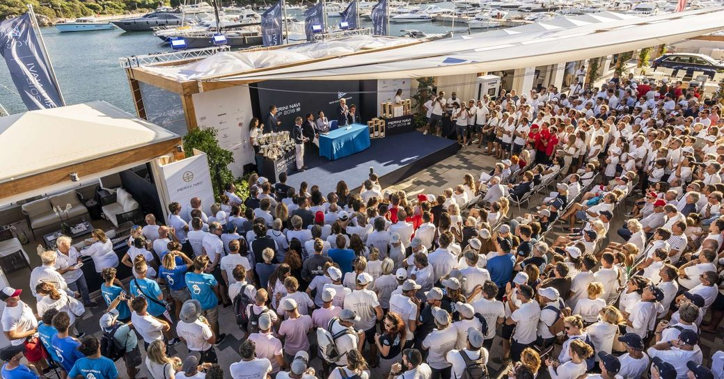prize-giving ceremony at the Perini Navi Cup 2018
