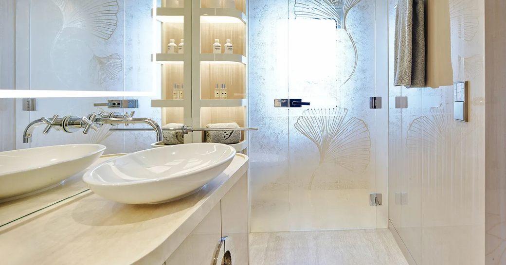 superyacht soaring master bathroom