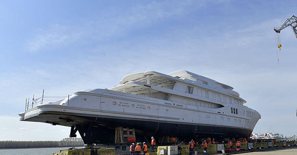 amels luxury yacht launching