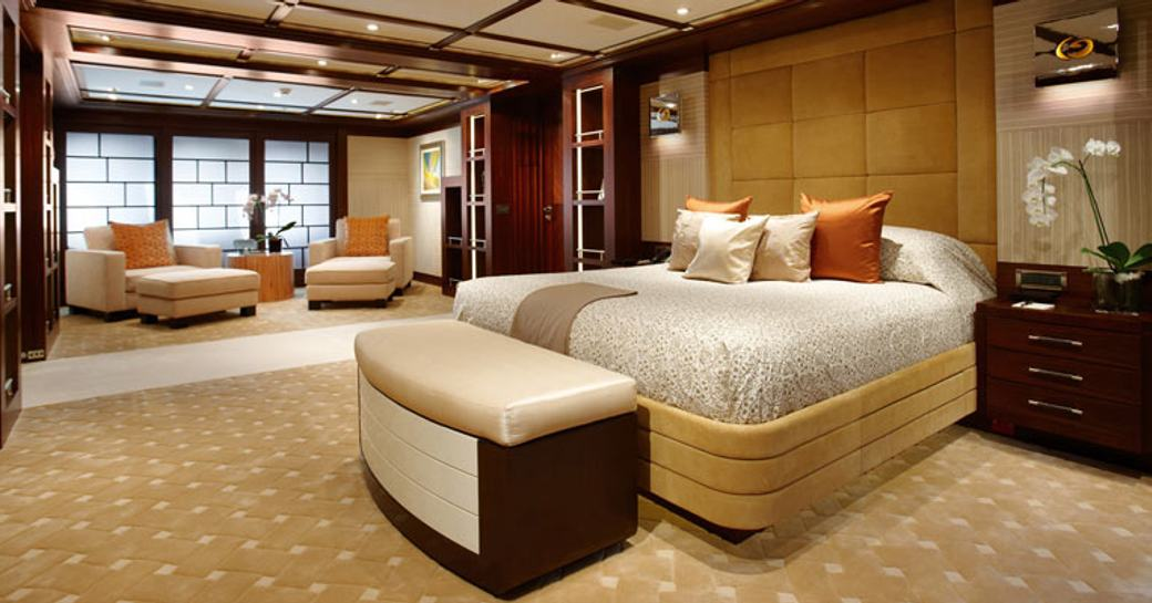 Master can on motor yacht Trident