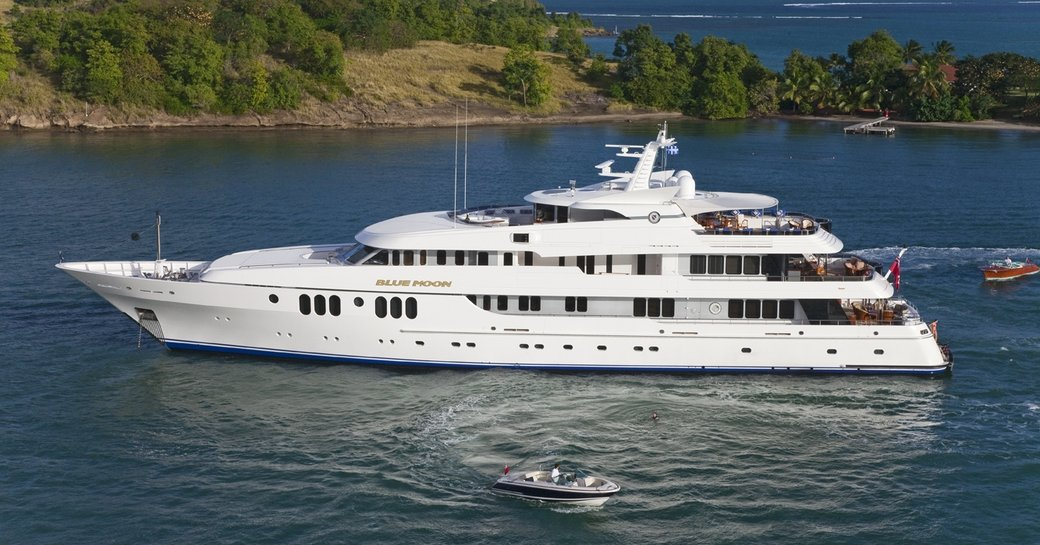 motor yacht Blue Moon underway on a private yacht charter