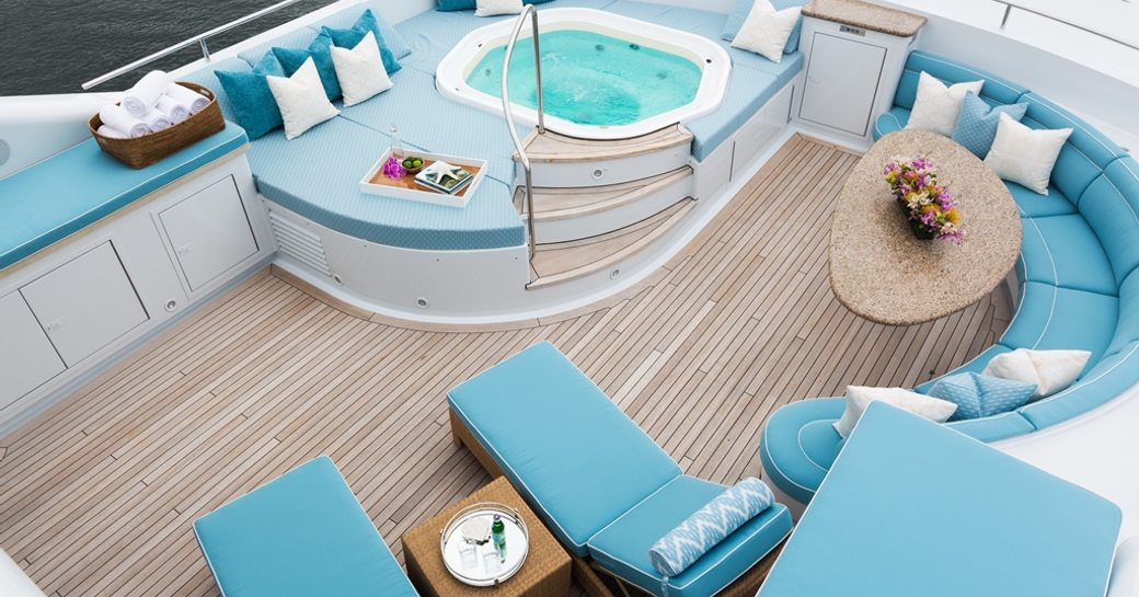 Motor yacht FOUR WISHES's jacuzzi area after refit