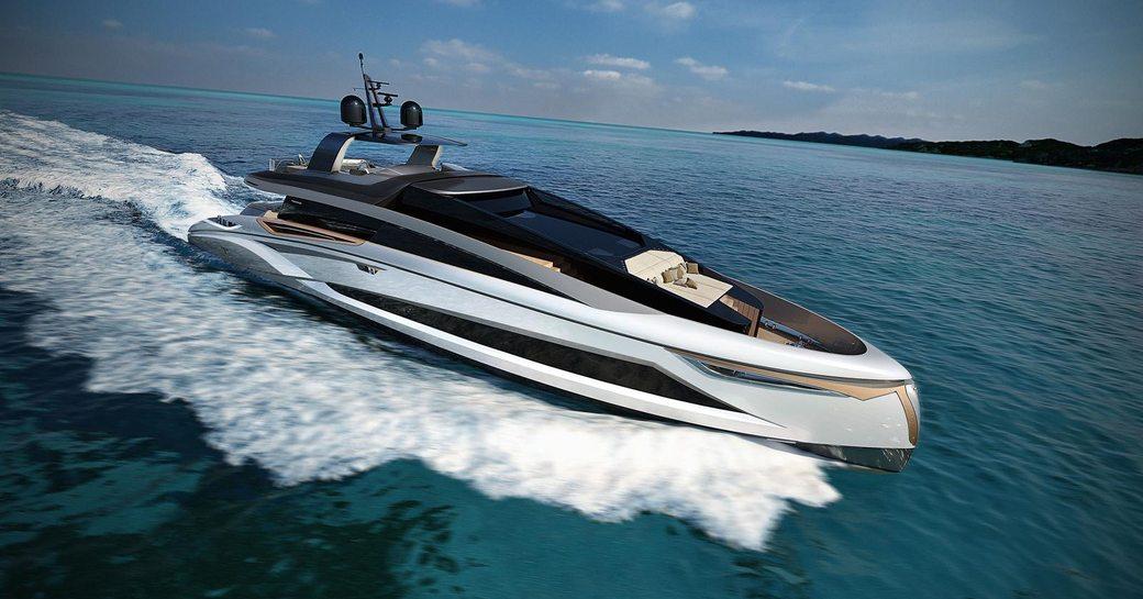 luxury yacht adamas 6  underway
