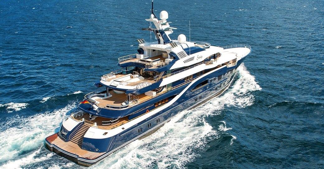 Lurssen charter yacht SOLANDGE underway