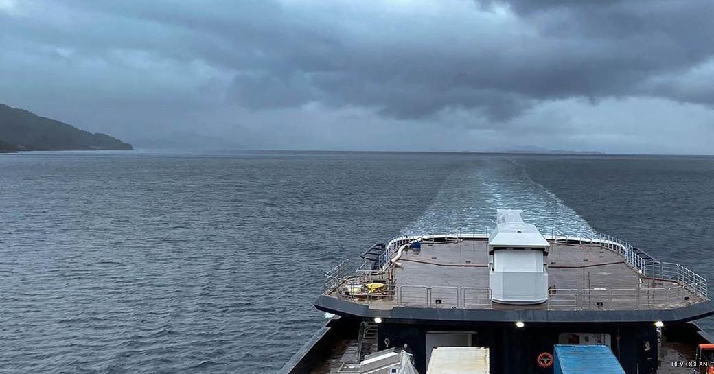 megayacht rev ocean undertakes sea trials around norway