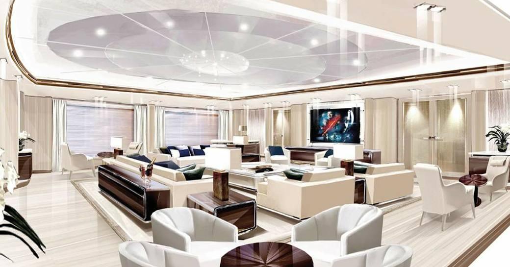 main salon of luxury yacht opari