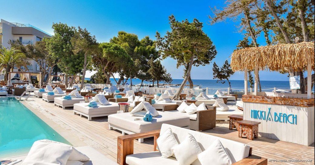 Image of celebrity hotspot Nikki Beach in Ibiza
