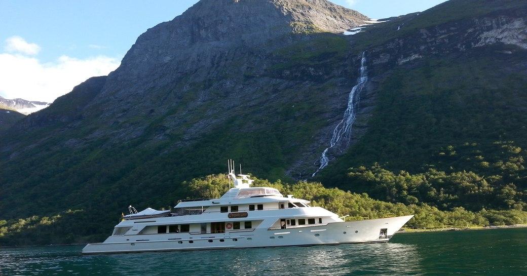Superyacht DAYDREAM in the Norwegian Fjords.