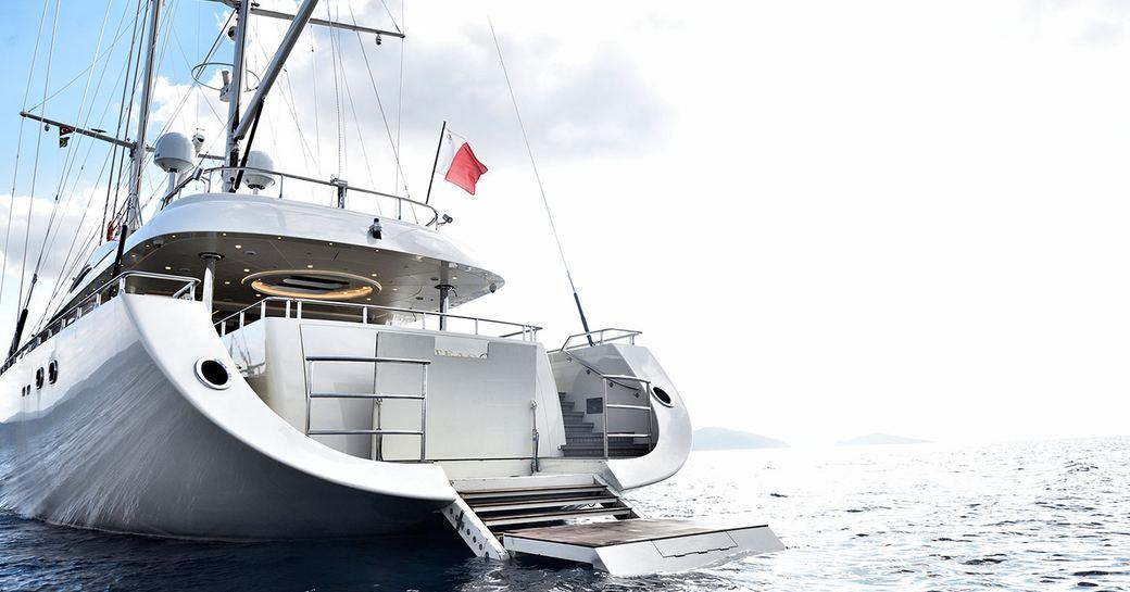 swim platform on sailing yacht aresteas