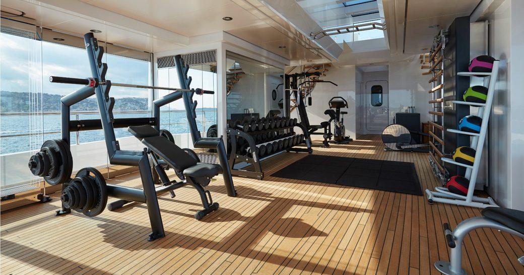 Gym onboard MY Joy