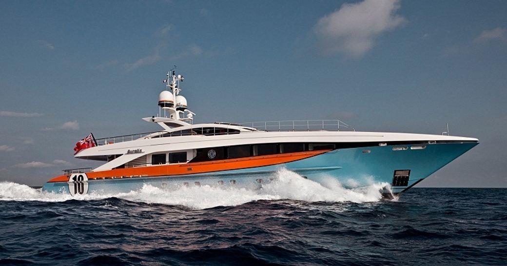 superyacht AURELIA cruising in the Mediterranean