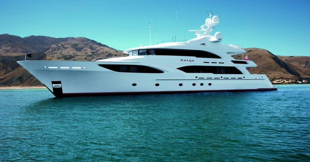 superyacht KATYA on display at 2015 miami yacht and brokerage show