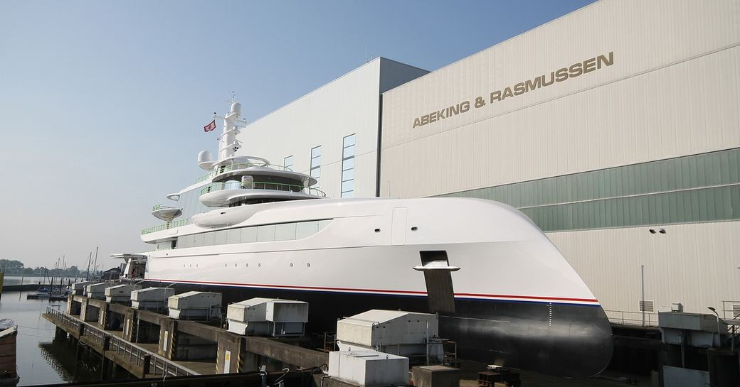 Luxury yacht EXCELLENCE about to be launched