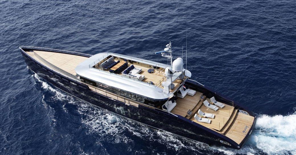 superyacht BLADE cruising on charter in the Mediterranean