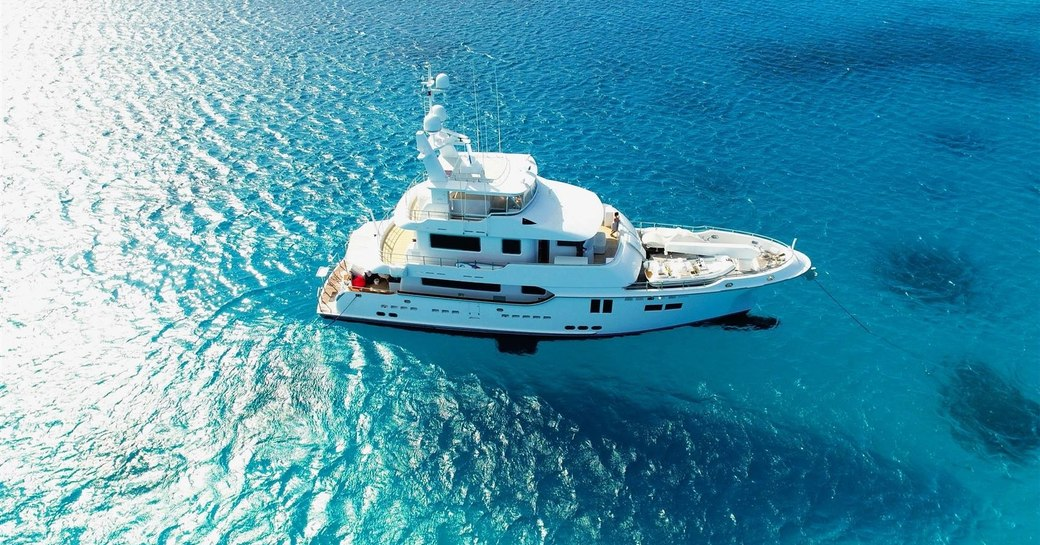 expedition yacht 'Mystic Tide' cruising on a yacht charter in the Great Barrier Reef
