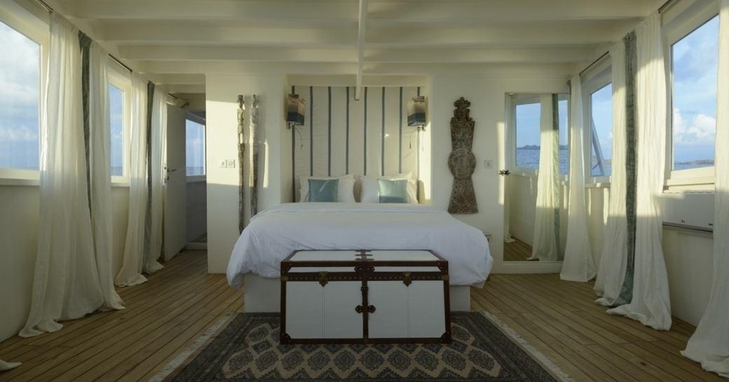 idyllic master suite aboard luxury phinisi ALEXA