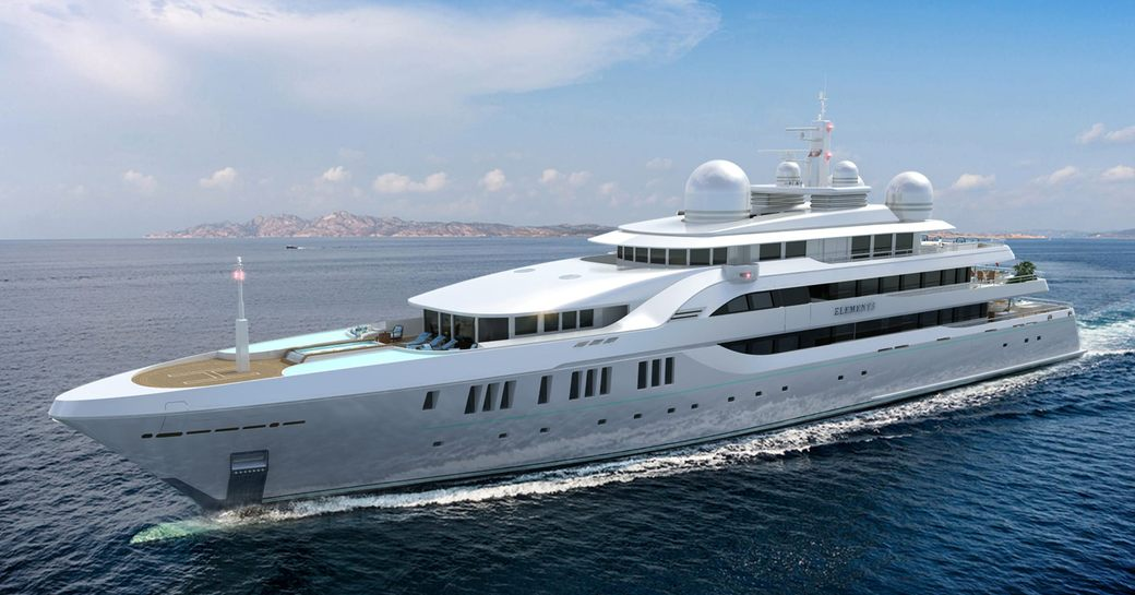 Superyacht Elements cruising the water