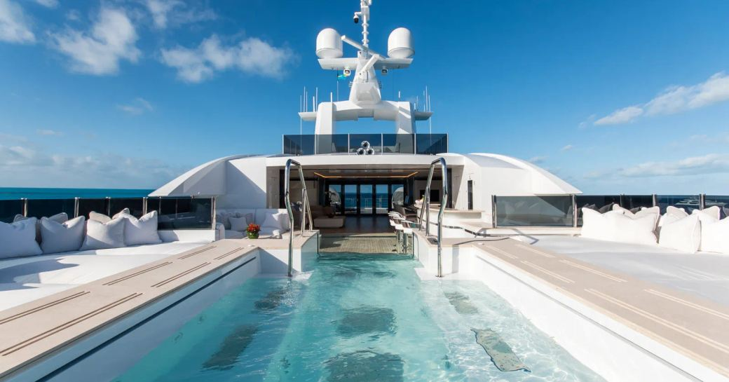 Sundeck Jacuzzi onboard MY North Star