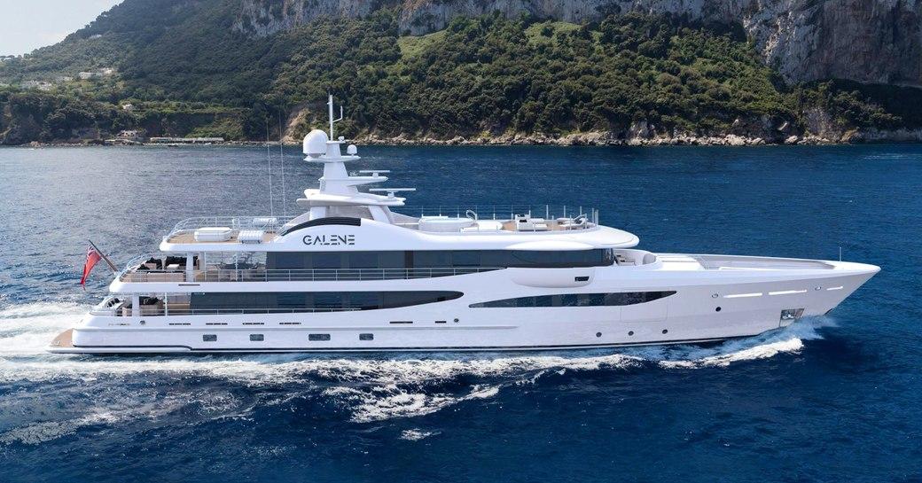 superyacht galene underway in the mediterranean