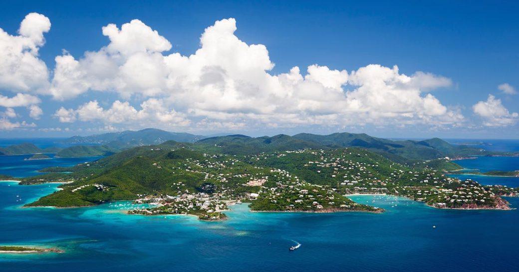 virgin islands aerial view