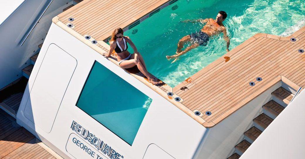 Custom Motor Yacht AXIOMA's pool