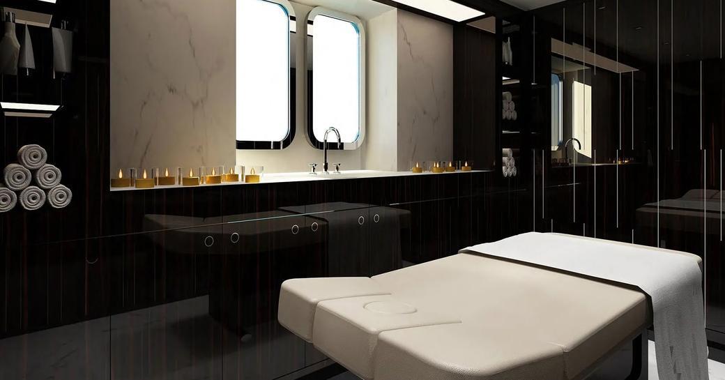 Spa on luxury yacht SOARING