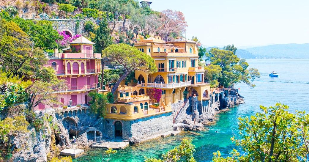 Italian village in Mediterranean