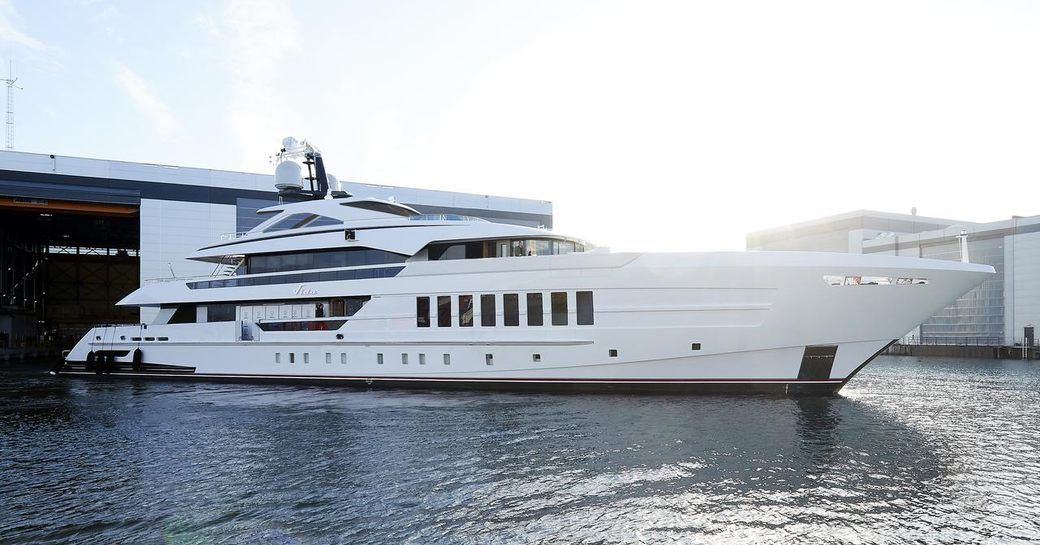 superyacht VIDA at Heesen shipyard ahead of her delivery