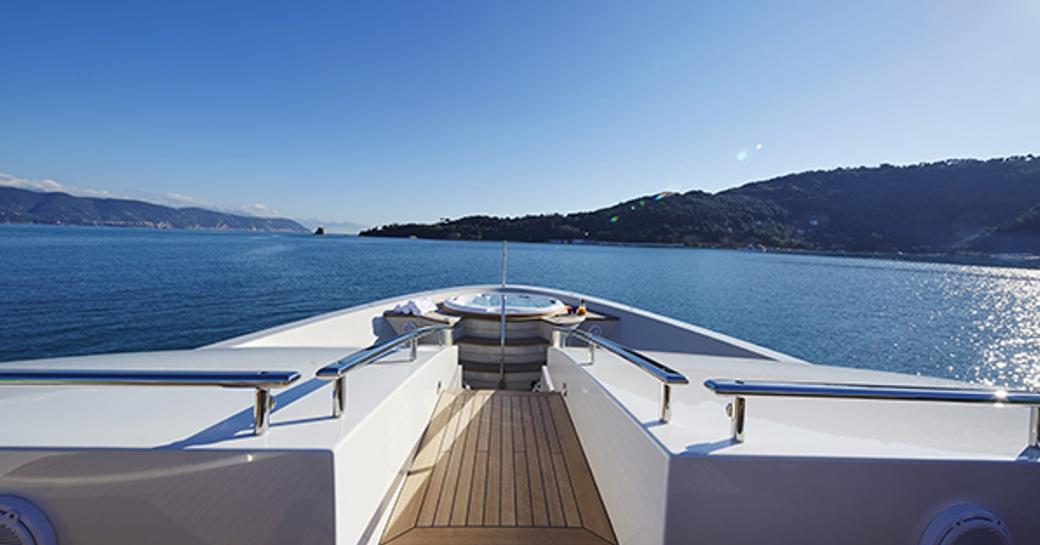 foredeck Jacuzzi on board luxury yacht TAKARA